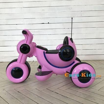 Детский электромотоцикл HL300 Pink 6V - HL300-P (музыка, световые эффекты, мягкие колеса EVA)