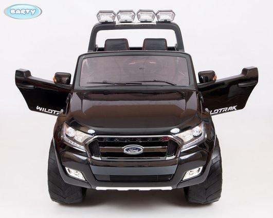 Электромобиль Ford Ranger F650 4WD белый (2х местный, колеса резина, кресло кожа, пульт, музыка)